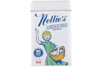 Nellie's Laundry Soda Phosphate & Fragrance Free No SLS or SLES Eco Friendly - 100 Loads, 1.5kg