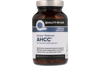 Quality of Life Labs Kinoko Platinum AHCC Immunity & Cell Activity Support - 750mg, 60 Vegicaps