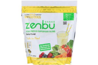 California Gold Nutrition Zenbu Shake Vegan Protein Superfood Blend, Vanilla Flavour 630g