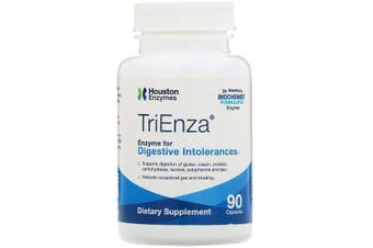 Houston Enzymes TriEnza Enzyme For Digestive Intolerances 90 Capsules