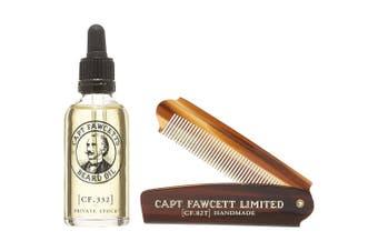 Private Stock Beard Oil And Folding Pocket Beard Comb 50ml