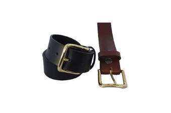 Jacaru Leather Belt 38mm - Brown - 36""