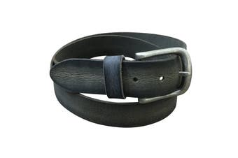 Jacaru Leather Belt 40mm - Stonewash Black - 42""