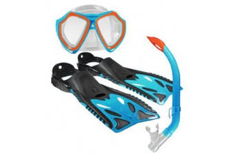 Land & Sea Nipper Kids Mask, Snorkel & Fins Set Junior Blue