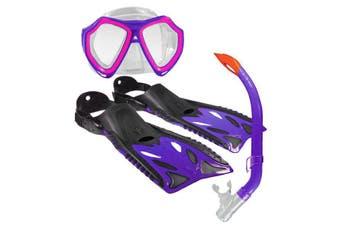Land & Sea Nipper Kids Mask, Snorkel & Fins Set Violet