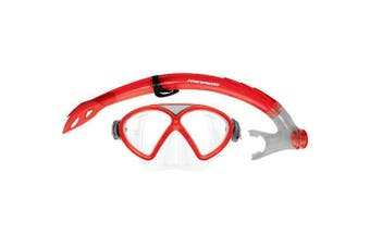 Mirage Comet Silitex Junior Mask and Snorkel Sets Red