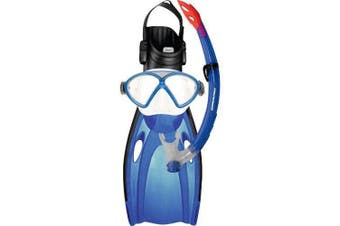Mirage Comet Junior Silitex Mask, Snorkel & Fins Set Small Dark Blue