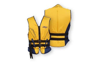 Ultra Life Jacket PFD – Personal Floating Device - Ultra Smallport Navy/Yellow 2X-Large