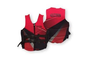 Ultra Life Jacket PFD – Personal Floating Device - Eclipse Smalltripe Red Medium