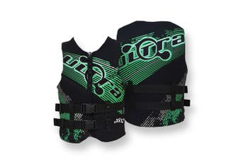 Ultra Life Jacket PFD – Personal Floating Device - Eclipse Black/Green Small