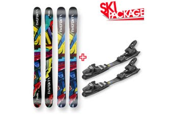 Five Forty Snow Skis Park Flat Sidewall 125cm with Binding Package