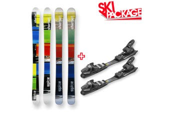 Spice Snow Skis Sherbet Square Camber Sidewall 135cm with Binding Package