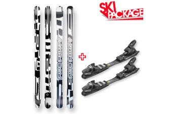 Five Forty Snow Skis Shattered Rocker Sidewall 165mm with Binding Package