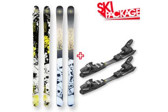Westige Snow Skis Cannibal Camber Sidewall 180cm with Binding Package