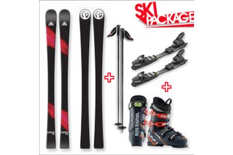 FIND Carve Capped Skis with Binding, Boots, Poles Package