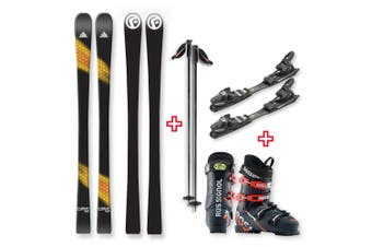 FIND Carve Capped Skis 153cm with Binding, Boots, Poles Package