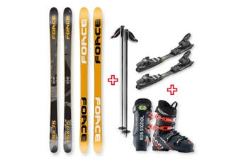 FORCE FSX Sidewall Skis 175cm with Binding, Boots, Poles Package