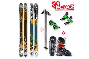 FORCE FSX Sidewall Skis 170cm with Binding, Boots, Poles Package