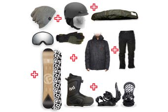 FIND Trip Sidewall Snowboard Package with Realm ATOP Cable Boot and TORK Binding + Men Head to Toe Package
