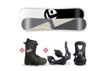 FIND Turbo Capped WIDE Snowboard Package with Realm Lace Boot and TRACTION Binding