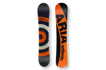 ARIA Snowboard 154cm Targetstick Black/Orange Twin Tip Camber Capped