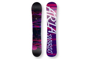 ARIA Snowboard 154.5cm Drawliner Pink/Purple Twin Tip Camber Capped