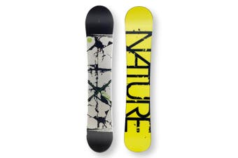 NATURE Snowboard 149.5cm B/W & Green Twin Tip Camber Capped