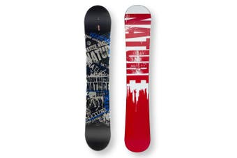 NATURE Snowboard 154.5cm B/W & Blue Twin Tip Camber Capped