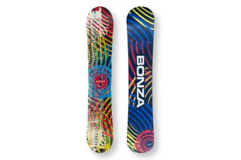 BONZA Snowboard 149cm Just Party Disco Twin Tip Camber Capped
