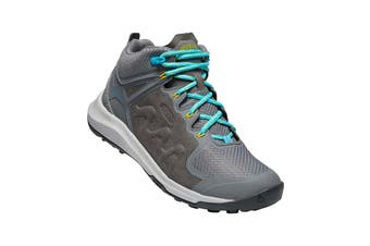 Keen Explore Mid WP Womens Steel Grey bright Turquoise - 10