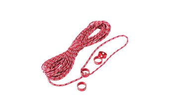 MSR Reflective Cord Kit V2 3Mm X 15Mt Red/Silver