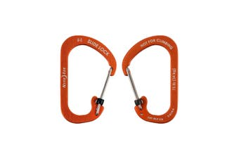 Nite Ize SlideLock Carabiner Aluminum #4 - Orange