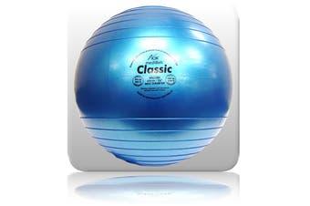AOK MediBall Classic Swiss Ball Gym Ball Fit Ball Anti Burst 65cm Blue