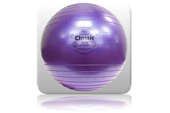 AOK MediBall Classic Swiss Ball Gym Ball Fit Ball Anti Burst 65cm Purple