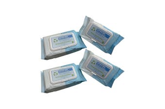 4 X 80PK 70% Isopropyl Alcohol Thick Wipes