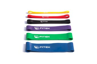 FITEK 12inch Powerband Resistance Package - Pack of 6 Bands