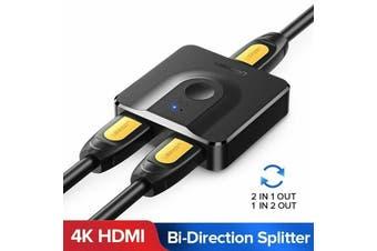 Ugreen HDMI Splitter Switch Bi-Direction 4K Switcher 2 x 1/1 x 2 for PS4 Xbox TV