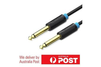 6.35mm to 6.35mm Aux Cable - Gold Plated - 0.5/1.5/2/3/5/10M - High Quality!
