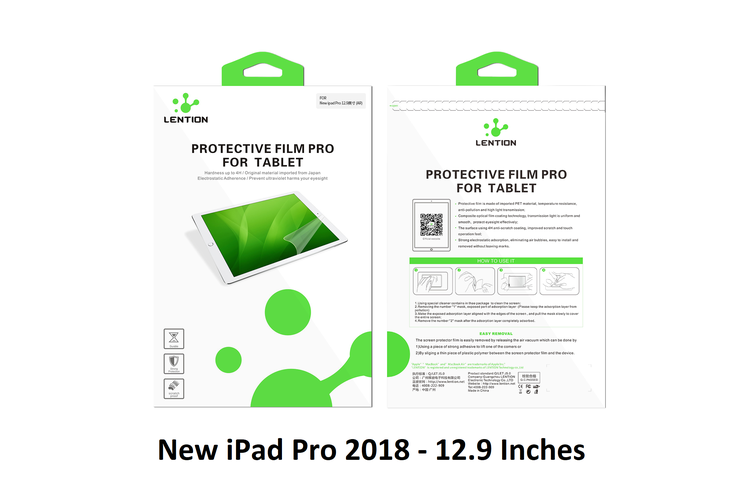 """Screen Protector for New iPad Pro 11"""" and 12.9"""" 2018 models"""