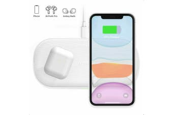 CHOETECH Dual 10W Wireless Charger 5 Coils Double Qi Fast Wireless Charging Pad
