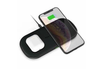 CHOETECH Dual Wireless Charger 10W Each Qi Fast Wireless Charging Pad for Phones