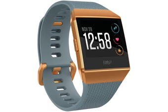 Fitbit Ionic Smart Fitness Watch - Slate Blue/Burnt Orange (AU Stock)