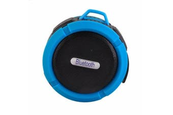 Bluetooth Water-Resistant Speaker USB Rechargeable Microphone - Blue