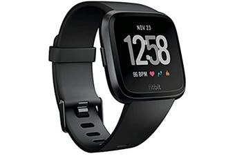 Fitbit Versa Fitness HR Smart Watch - Black/Black Aluminium (AU Stock)