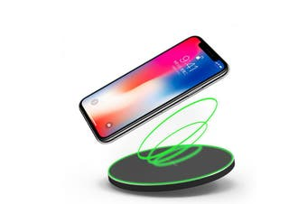 Wireless iPhone & Samsung Smartphone QI Charger - Black