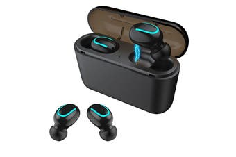 HQB - Q32 TWS Wireless Bluetooth Earphones for iPhone & Android - Black (AU Stock)