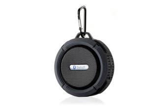Bluetooth Water-Resistant Speaker USB Rechargeable Microphone - Black