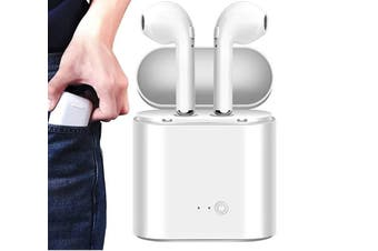 i7S TWS Bluetooth Wireless Headphones for iPhone & Android - White (AU Stock)