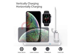 4 in 1 Wireless 10W Charging Station for Apple devices - White (AU Stock)