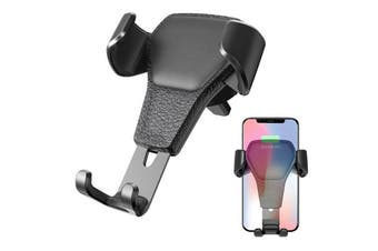 Car Phone Air Vent Mount Universal Gravity Cell Phone Holder Auto - Black